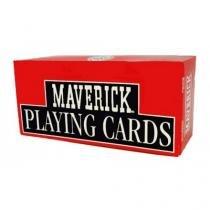 Baralho Maverick Jumbo caixa com 12 (6 vermelho + 6 azul) - Maverick