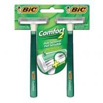 Barbeador Bic Comfort Pele Sensível em com 24 -