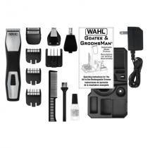 Barbeador e Aparador de Pelos Wahl Groomsman Pro, 4 em 1, Bivolt - WAHL