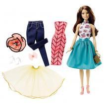 Barbie Conjunto Muitos Looks Morena - Mattel - Mattel