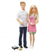 Barbie Cozinhando e Criando Barbie e Ken - Mattel -