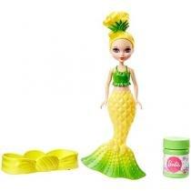 Barbie Dreamtopia Reino dos Doces Bolhas Mágicas - Amarela com Acessórios Mattel