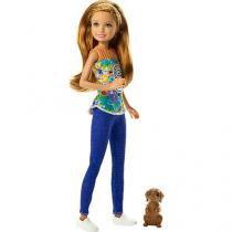 Barbie familia irmas com pet mattel dmb29/dmb28 - Mattel