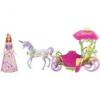 Barbie Fantasia Princesa com Carruagem - Mattel -