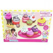Barbie - massinha cupcake divertido - fun 7619-4 -