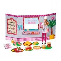 Barbie Massinha de Modelar Food Truck Lanchinhos e Sucos Fun - Fun
