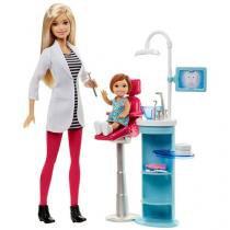 Barbie Profissões Conjunto Médica e Dentista - com Acessórios Mattel