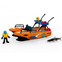 Barco de Resgate Imaginext Barão DTL95 Mattel - Fisher-price