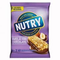 Barra de Cereais Nutry Avelã e Chocolate Caixa 66 g com 3 Unidades -
