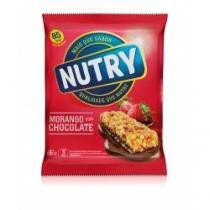 Barra de Cereal Nutry Light Morango C/ Chocolate C/ 3 Unidades - NUTRY
