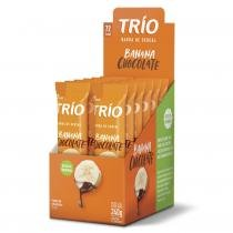 Barra de Cereal Trio com 12 unid Banana Com Chocolate -