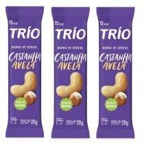 Barra de Cereal Trio com 3 unid Castanha E Avelã -