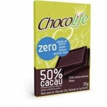 Barra de chocolate chocolife amargo 50 cacau 25g -