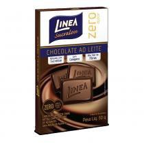 Barra de chocolate linea ao leite zero açúcar 30g -