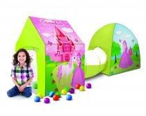 BARRACA 3X1 CASTELO ENCANTADO C/ BOLINHAS - Variadas - Bang Toys