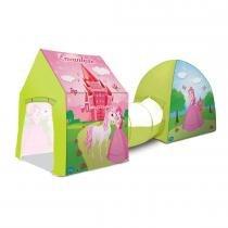 BARRACA 3X1 CASTELO ENCANTADO - Rosa / Verde - Bang Toys