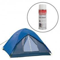 Barraca de Camping Fox para até 6 Pessoas Nautika + Impermeabilizante para Barracas Coleman - Nautika