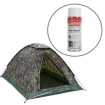 Barraca de Camping Kongo 3 Pessoas Nautika + Impermeabilizante para Barracas Coleman - Nautika