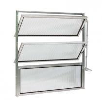 Basculante de alumínio vidro mini boreal 60 x 60 cm mgm - M g m