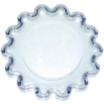 Base acrílica transparente mini babado blue star 5 cm com 10 peças - ref. 78146 -