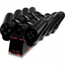 Base para carga QU4D DOCK para 4 controles do Playstation 3 - PS3 DGPS3-1339 Dreamgear -
