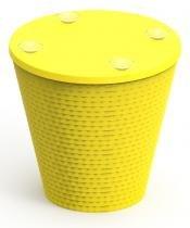 Base para mesa Fluo amarela - Im in