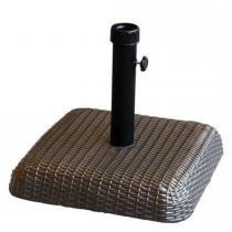 Base Quadrada em Concreto/Rattan 30kg para Ombrellone Marrom 17712 - Belfix - Belfix