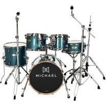 Bateria Acústica Michael 8 Peças Elevation DM852 - Azul Sparkle