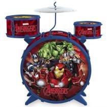 Bateria Acústica Vingadores C/ Banquinho 27653 - Toyng - Toyng Brinquedos