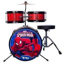 Bateria Infantil Marvel Spider-Man 8 Peças - PHX