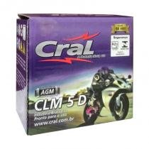 Bateria Moto CLM 5D 12V 5A CG125 - Titan150KS - Biz  Honda Suzuki - Selada - Cral