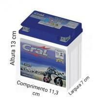 Bateria Moto CLM 7D 12V 7A Honda Dafra Selada - Cral