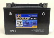 Bateria moura ma8-ei/ytx9-bs laser 150/ml 125/cb 500/vt 600 shadow/motard 200/intruder /daytona 650/xv 250/xt 600 e -