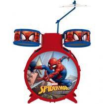 Bateria Musical Acústica Infantil Homem Aranha - Toyng
