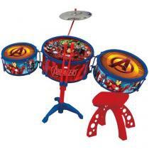 Bateria Musical Acústica Infantil Marvel Avengers - Toyng