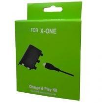 Bateria para controle Xbox One com Cabo e Carregador - Preto - MF Imports