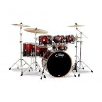 Bateria pdp concept maple pdcm2217rb 7pcs red/black (shell pack) - Pdp