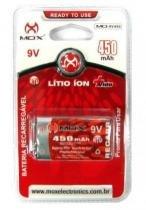 Bateria rec 9v mox 450mah -