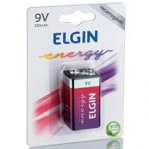 Bateria Recarregável 9v 250 Mah Blister C/1 - Elgin -