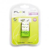 Bateria Recarregável 9v 450mAh Nimh Microfone Violão no Blister - Flex