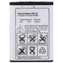 Bateria Sony Ericsson W200A, Sony Ericsson K310I, Sony Ericsson K750I, Sony Ericsson Z550A  Original  Bst-36, Bst36 -