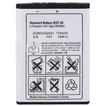 Bateria Sony Ericsson W200A, Sony Ericsson K310I, Sony Ericsson K750I, Sony Ericsson Z550A  Original  Bst-36, Bst36 - Sony