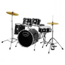 Bateria Stage Completa Com Bumbo 20 Preto X-Pro Drums - X-Pro Drums