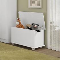 Baú Infantil Multiuso em MDP 45 x 40 cm Branco - Art In Móveis - Meu fofinho