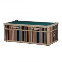 Baú mesa de centro de madeira glorie com alças de couro - Maria pia casa