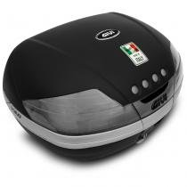 Baú Moto Bauleto 46 Litros Givi V46NT Tech Bagageiro Universal Preto E Fumê Para 2 Capacetes -