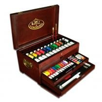 Baú Super Luxo Completo para Pintura Royal  Langnickel  Com 134 peças RSET-ART8000 -