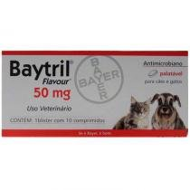 Baytril Flavour 50mg - 10 comprimidos - Bayer