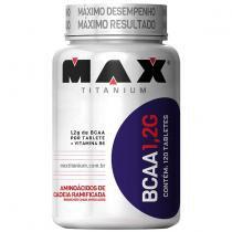 BCAA 1,2G c/ Vitamina B6 - Max Titanium - 120 caps - Max Titanium