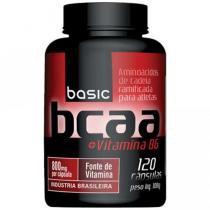 BCAA 2:1:1 + Vitamina B6 120 Cápsulas - Basic Nutrition